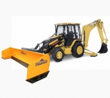 Backhoe model pushers/box plows